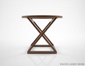 3D model ralph lauren jamaica table