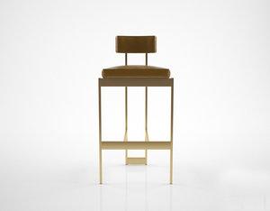 3D powell bonnell alto stool model