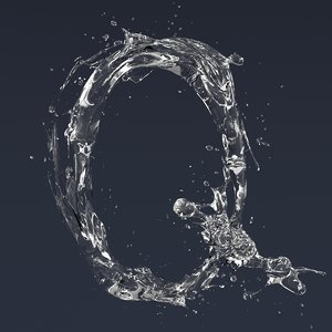 letter q splash model