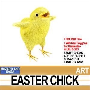 3D mozartland easter chick