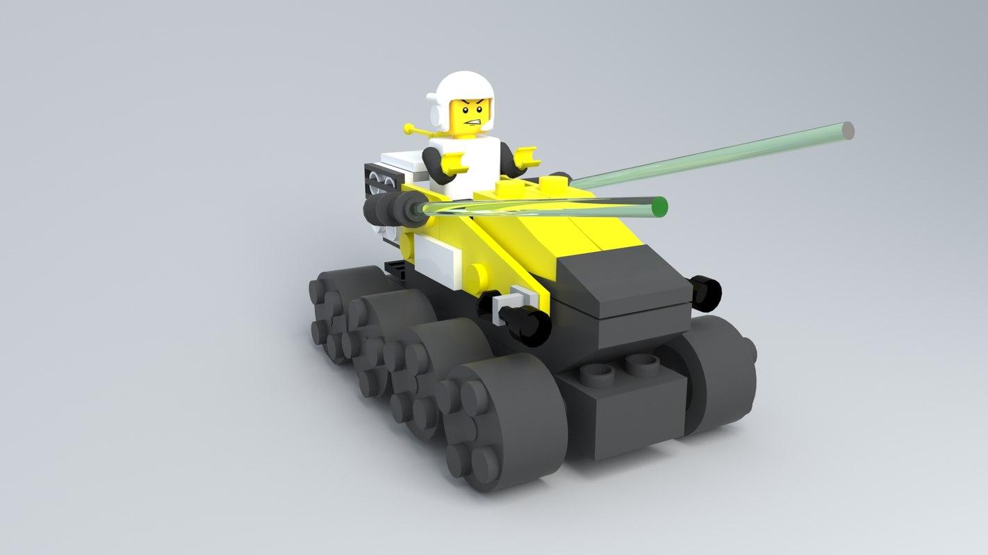 3D lego warrior