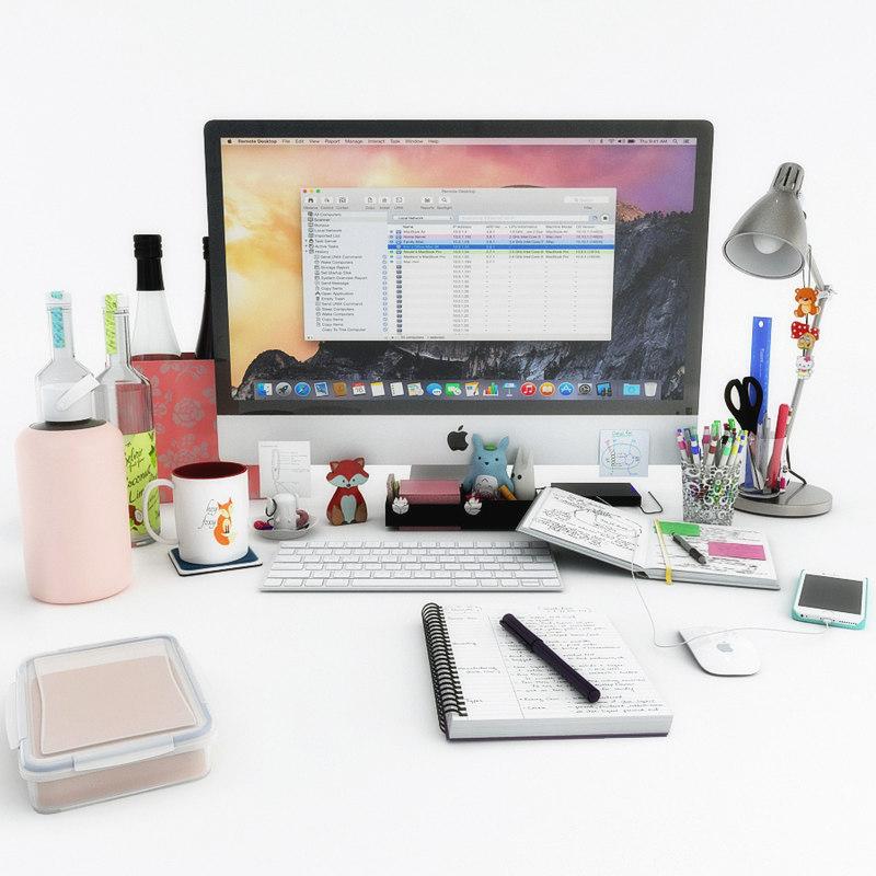 decor desk 3D model