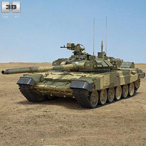3D t-90 t 90 model