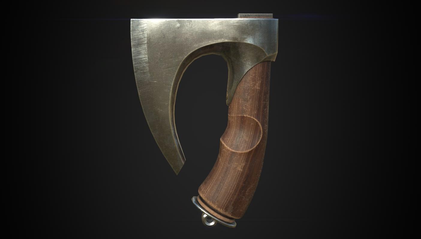 axe knife 3D model