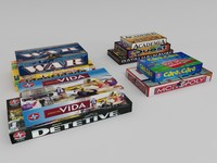 3D boardgame boxes