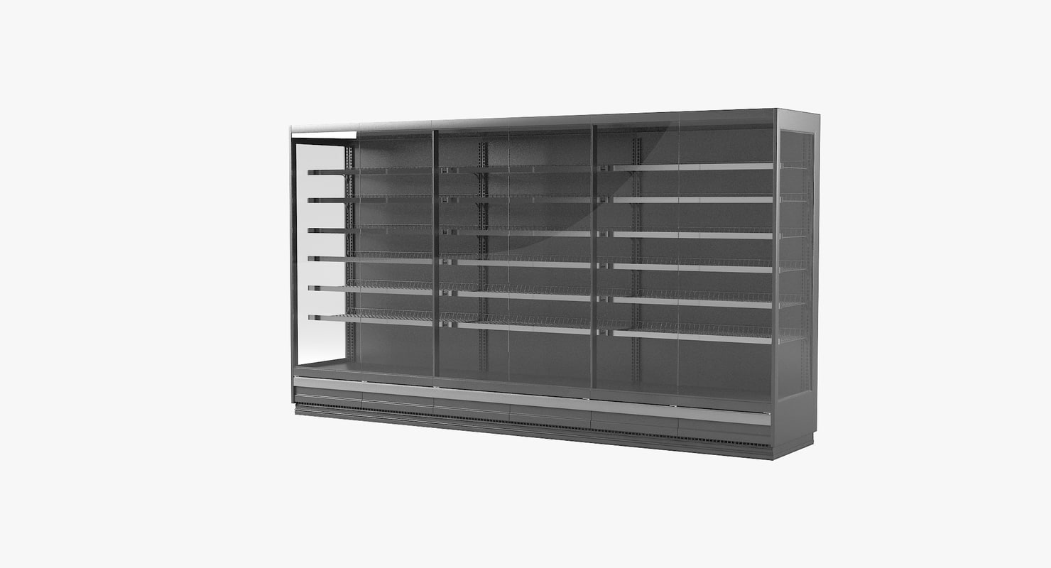 refrigerated case 3D
