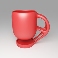 levitating coffee cup model