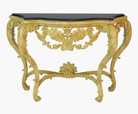 Luxury French Console Table (Golden & White)