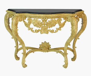 3D luxury french console table model
