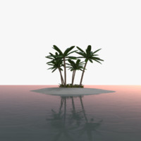 scene tropical island 3D model