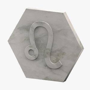 3D marble leo model