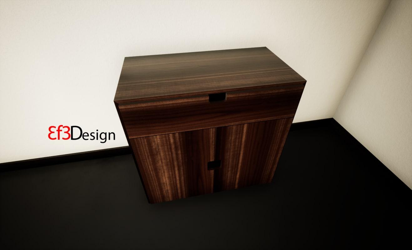 3D ethnic cabinet