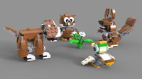 lego animals 3D model