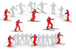 3D skier ski model
