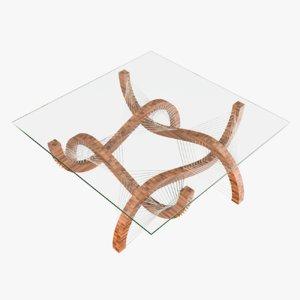 contour coffee table 3D model