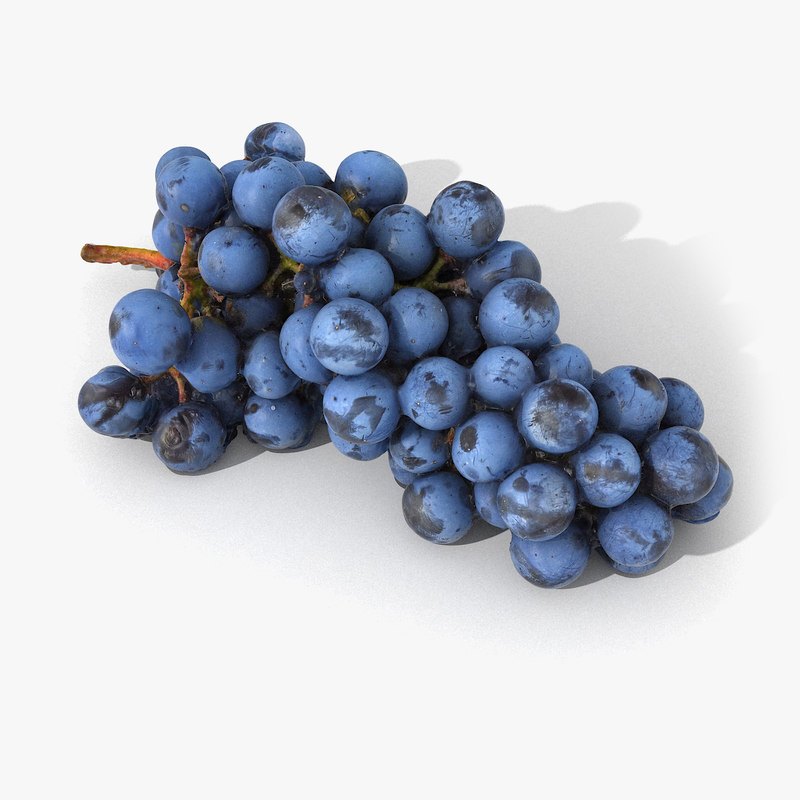 scan grape realistic 3D model