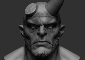 hellboy zbrush 3D