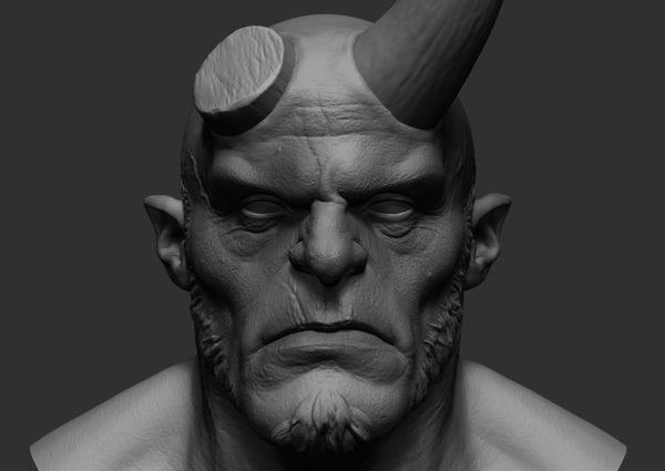 hellboy zbrush 3D