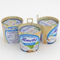 3D almette yoghurt 150g model
