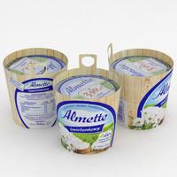 3D model almette cream