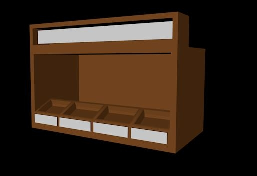 3D shop products model