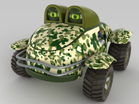 cartoon car monster truck 3D model