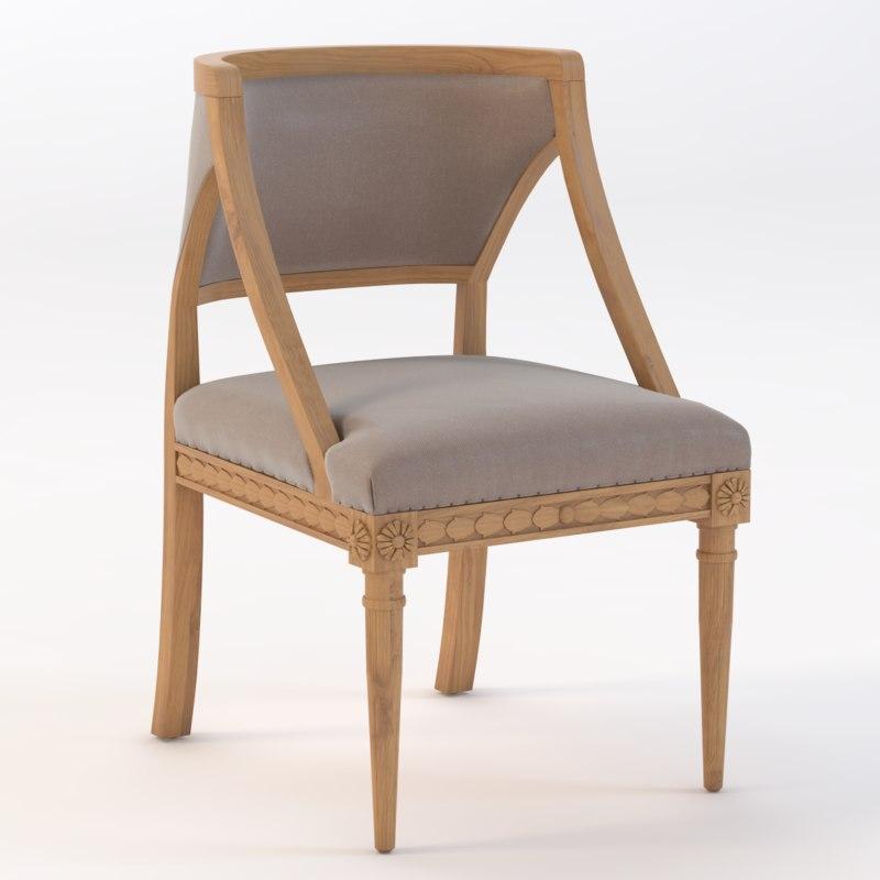 3D nixon accent chair model