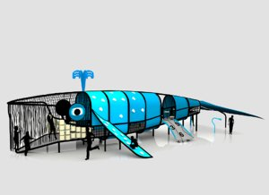 3D dolphin play structure playground