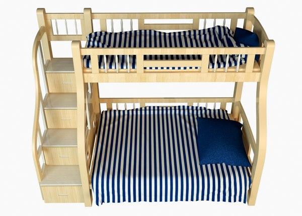 3D bunk bed child model