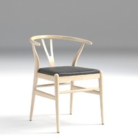 hans chair leather 3D