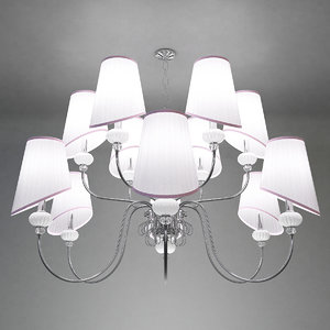 chandelier crystal lux allegro 3D model