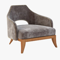 wolfe lounge chair 3D