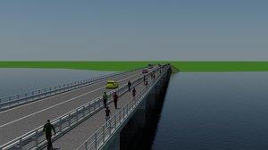 300m bridge 3D model