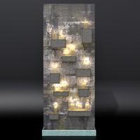 3D wall candles model