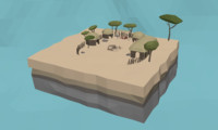 LowPoly African Village