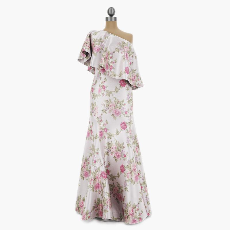 3D dress mannequin 002 model