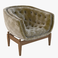 tufted tub chair model