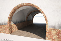 building gate gateway 3D