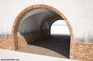 building gate gateway 3D