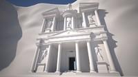 3D petra temple