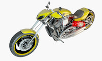 harley davidson bike 3D model