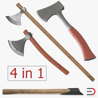 3D axes set viking model
