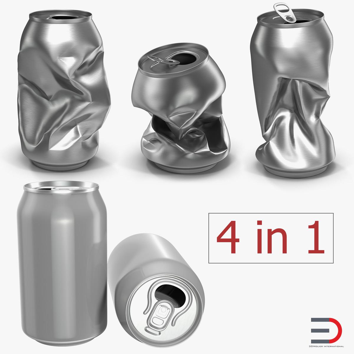 3D model aluminium cans
