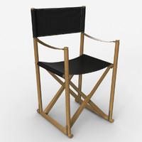folding chair mogens koch 3D model