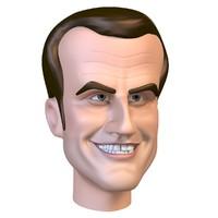 emmanuel macron 3D model