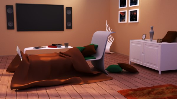 3D lounge room model