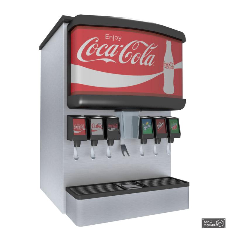 3D soda machine model