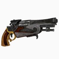 3D model medieval gun