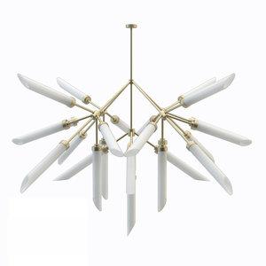 spur pendant lamp chandelier 3D model
