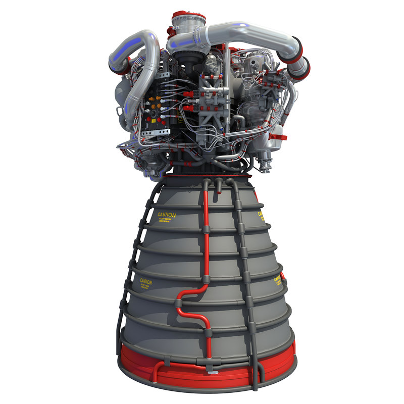 rs-25 space shuttle engine model